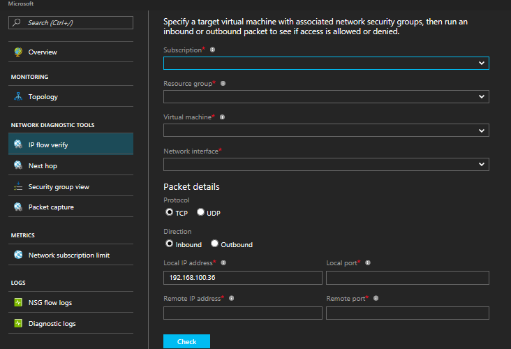 Microsoft's new Azure Network Watcher comes with various logging and diagnostic capabilities 1