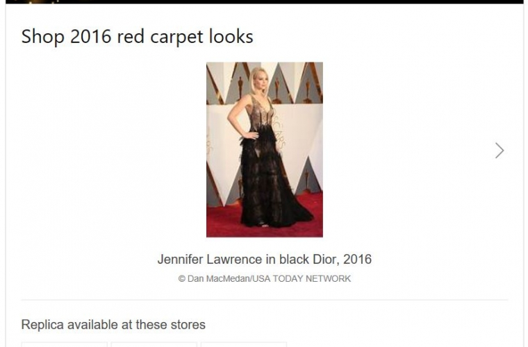 You can now shop red carpet looks from Bing search results 7