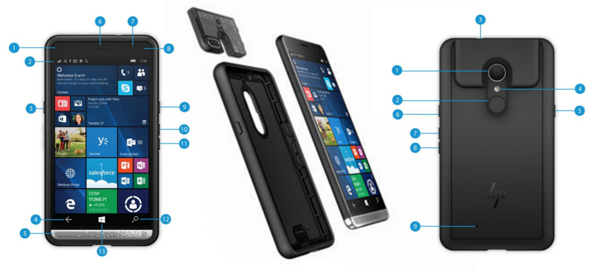 785dc7e7aa65c3 They have released the HP Elite x3 Mobile Retail Solution backpack for the  handset, which adds a dedicated barcode scanner to the device, and from the  looks ...