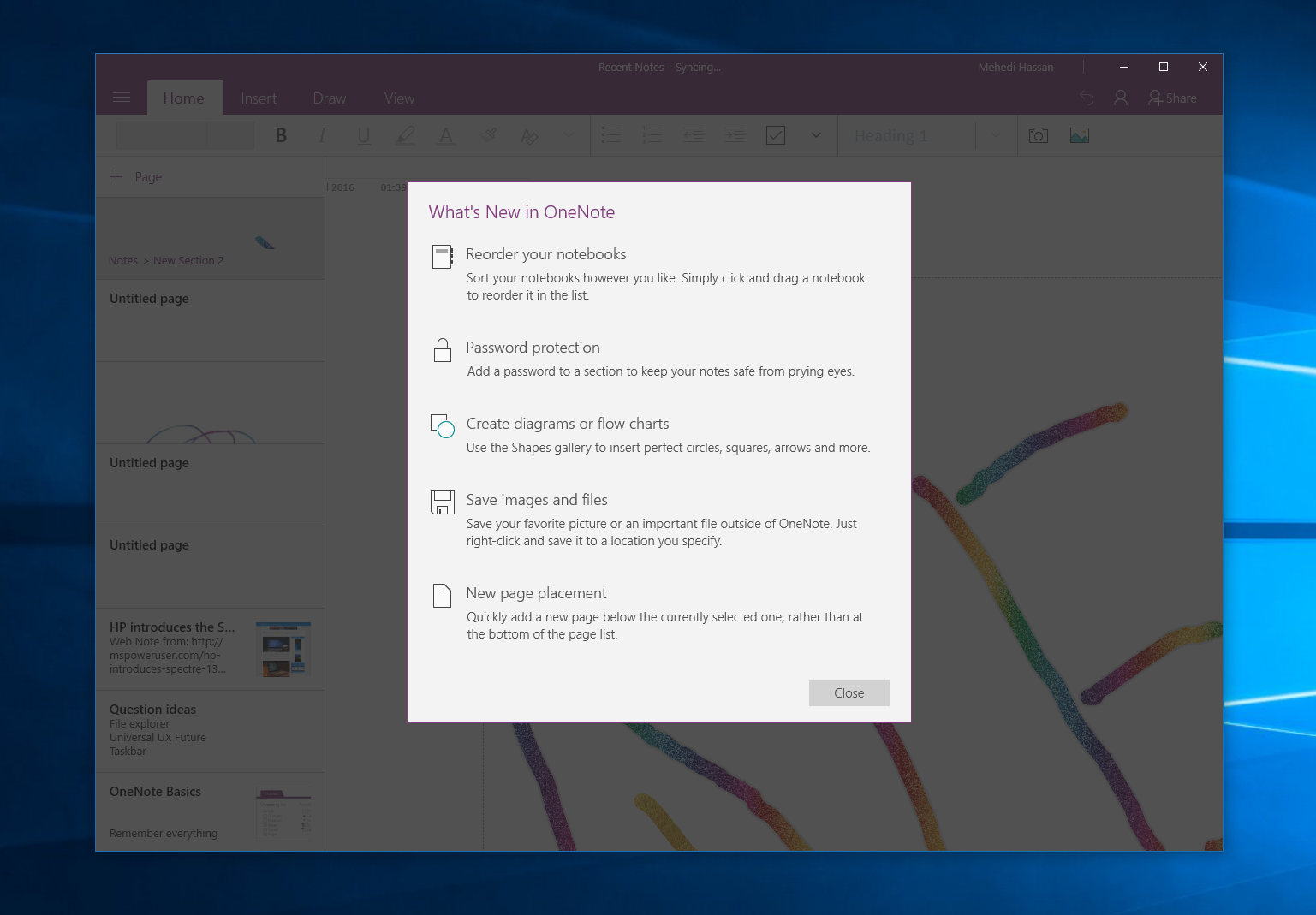 OneNote's Windows 10 app now lets you protect notebooks with