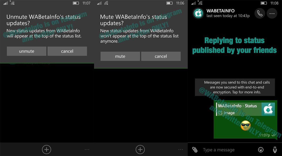 Whatsapp Flesh Out Their Status Feature On Windows Phone