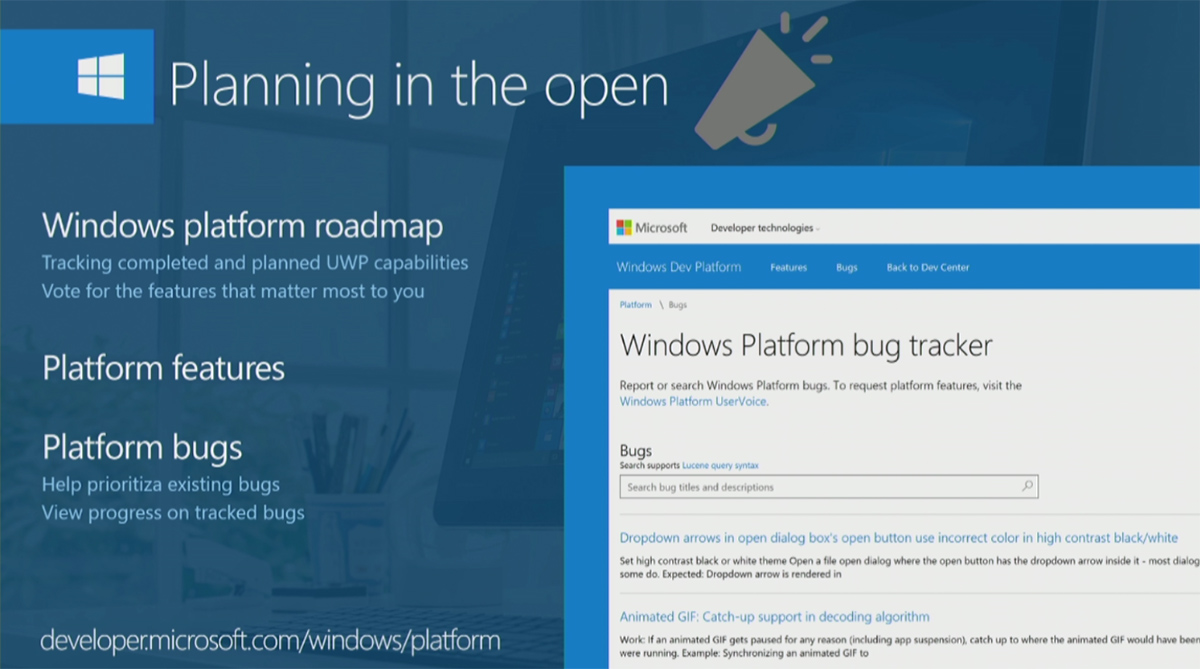 at the windows developer day today microsoft today announced that the company is bringing a new platform roadmap for windows 10 the new roadmap will allow