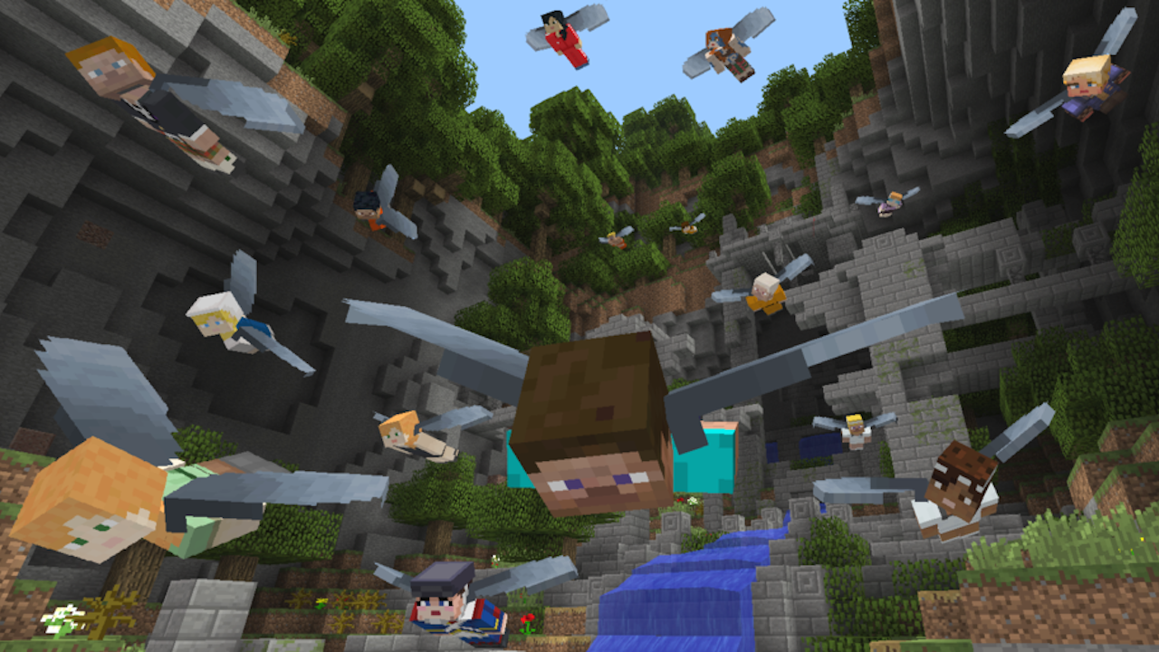 Minecraft is getting a gliding minigame on Xbox One tomorrow
