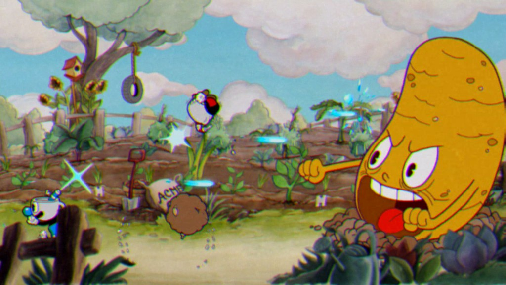 Conan O'Brien plays Cuphead with Kate Upton 1