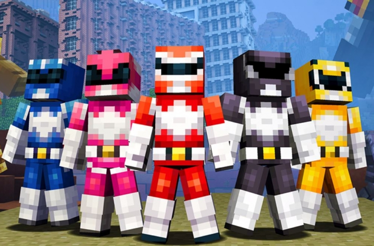 The Power Rangers skin pack now available on Minecraft Console, Pocket and Windows 10 Edition 3