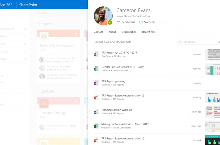 Office 365's new profile experience aims to enhance collaboration in organizations 11