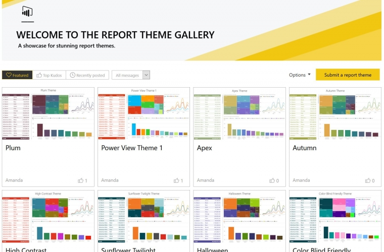 Microsoft launches new theme gallery in the Power BI Community 7