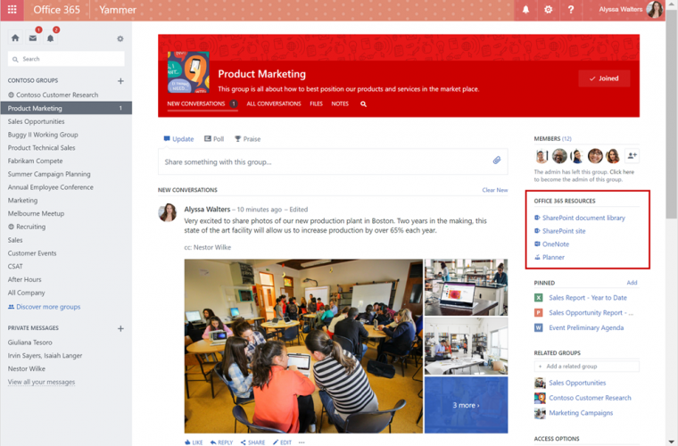 Microsoft now rolling out Yammer integration with Office 365 Groups 5