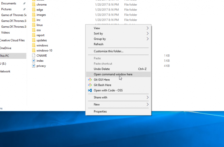 How to replace PowerShell with Command Prompt on File Explorer's Context Menu in Windows 10 27