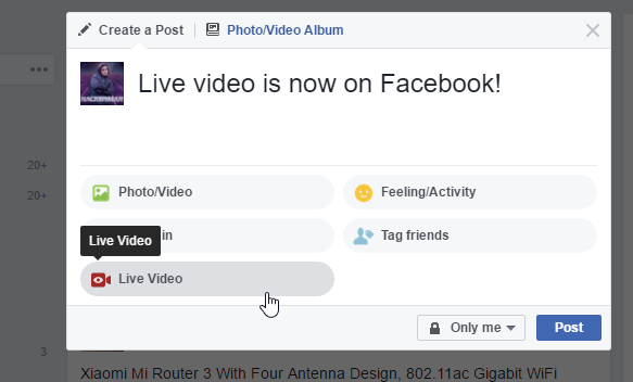 Facebook now lets anyone live stream from the desktop 2