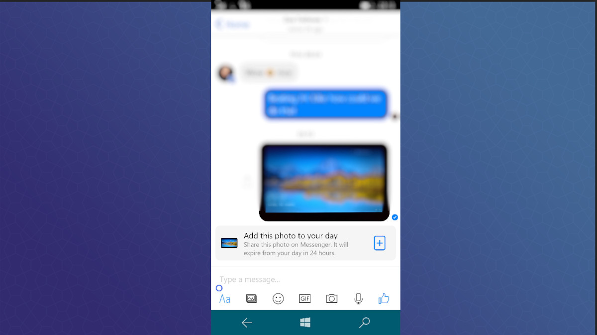 Glimmers of Messenger Day shows up in Facebook Messenger UWP app for