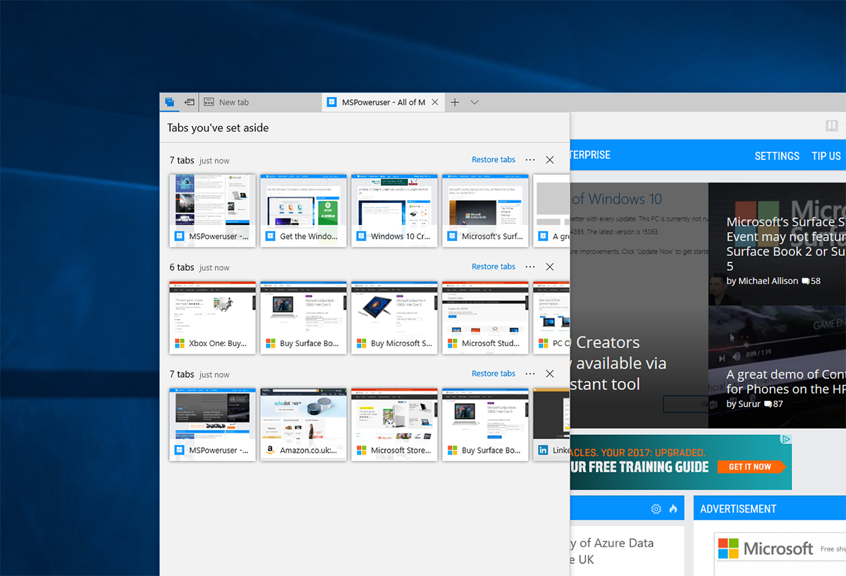 What's new for Microsoft Edge users in the Windows 10