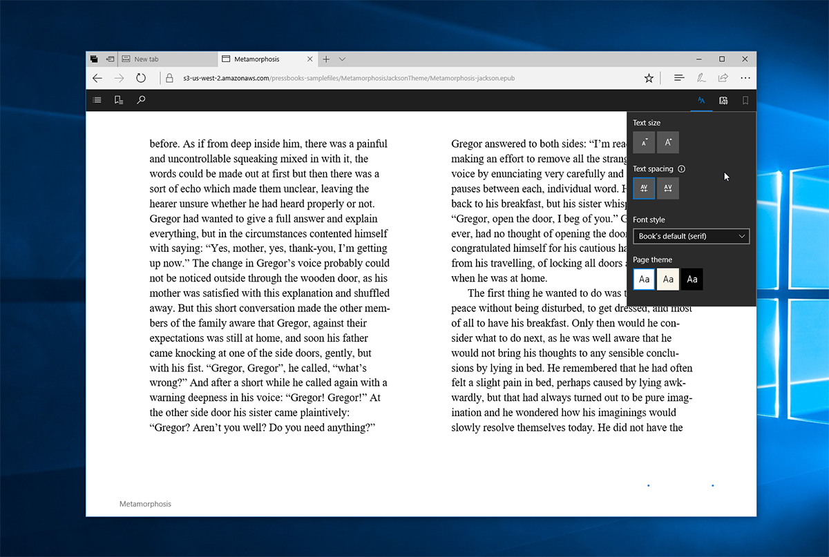 One Of Microsoft's Headline Features Is The Support For The Epub Format In  Edge, Allowing You To Use The Browser To Read Ebooks, Which Microsoft Will  Also