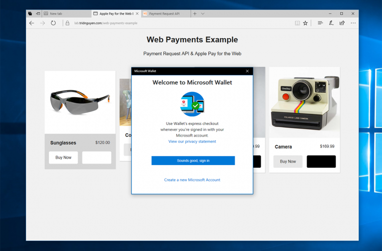 Windows 10 developers will be able to offer a simple payment method in UWP apps with the Creators Update 3