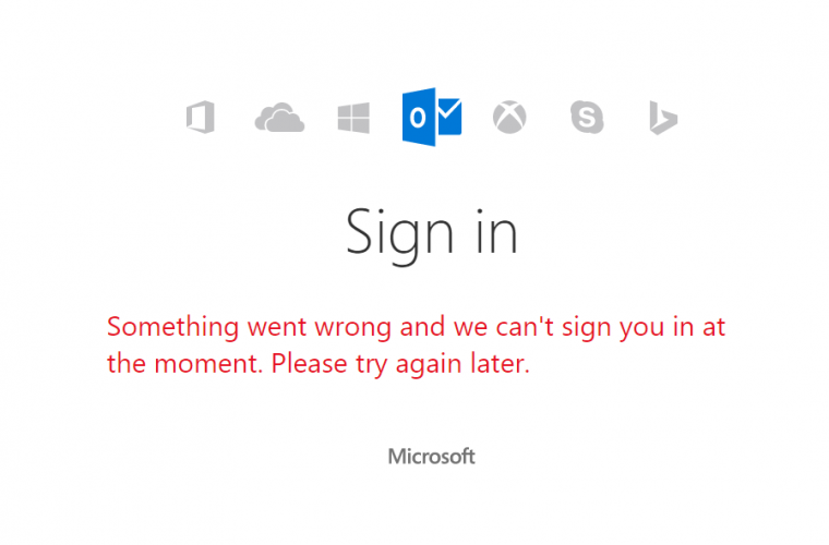 Microsoft Account is down worldwide -- affecting Outlook, Windows Store, OneDrive, and more [Updated] 5