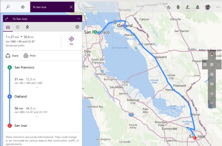 Windows Maps for Insiders updated with multi-stop route planning 25