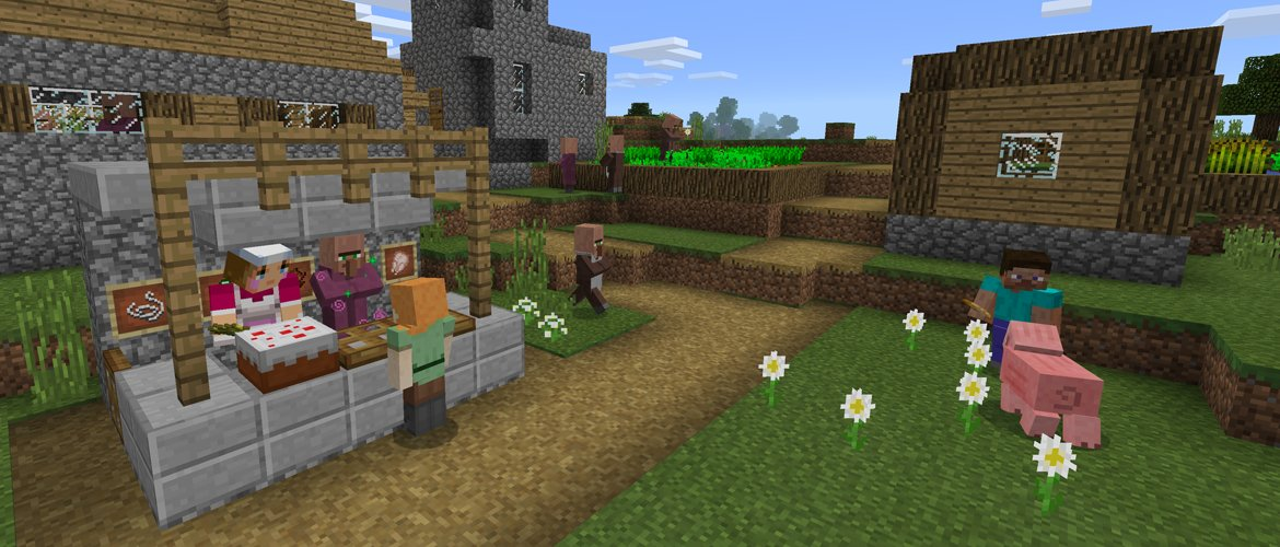 Villager Trading Comes To Minecraft Windows And Pocket Edition - Skin para minecraft pe windows 10