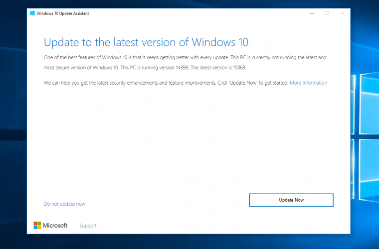 Windows 10 Creators Update's Update Assistant leaks, confirms RTM build number 14