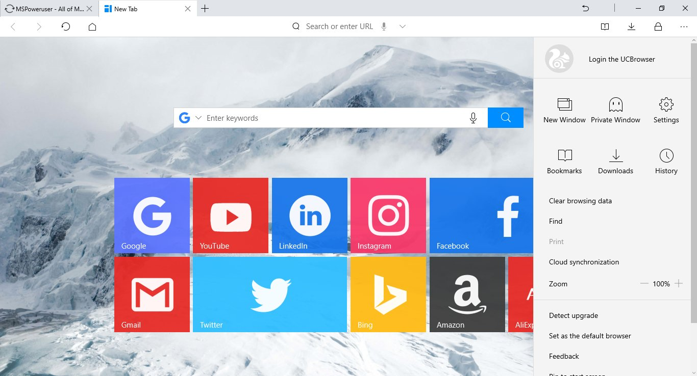 Uc browser for windows 10 finally lands on the windows store.
