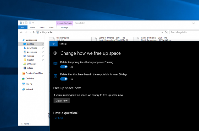 Tip: Enable auto Recycle Bin cleaning to save space in the Windows 10 Creators Update 8