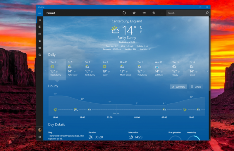 Msn Weather App Updated With Dark Mode For All Windows 10 – Fondos