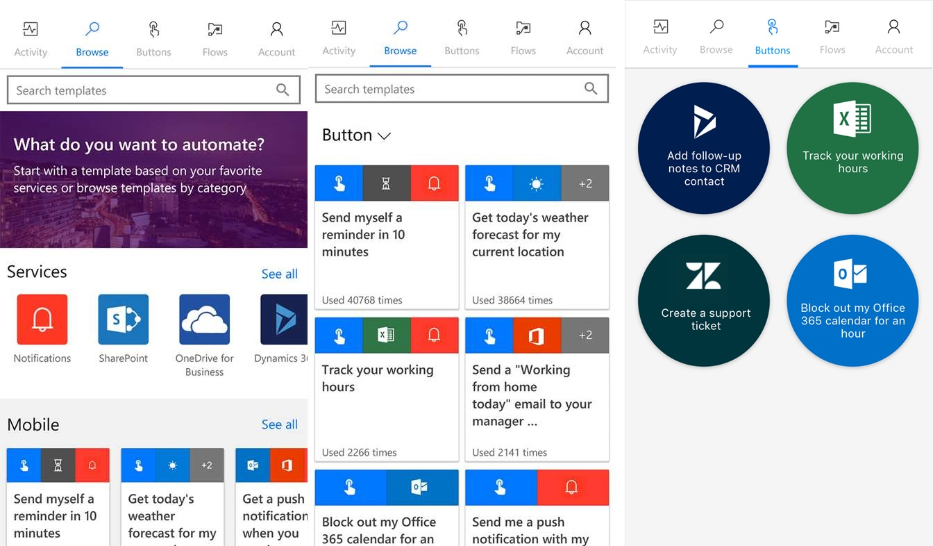 Microsoft Flow app now available for Windows 10 Mobile devices