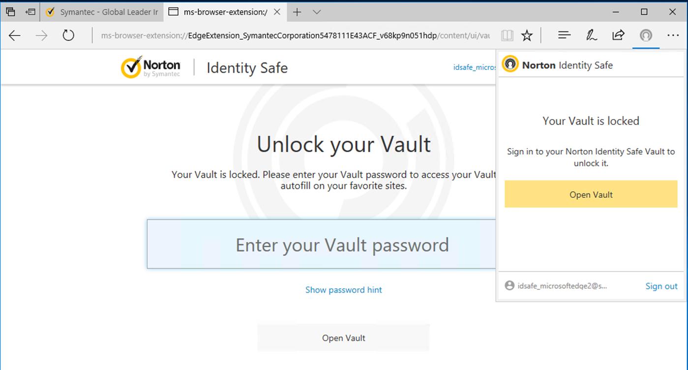 Edge browser adds new password vault support mspoweruser - Vult extension ...