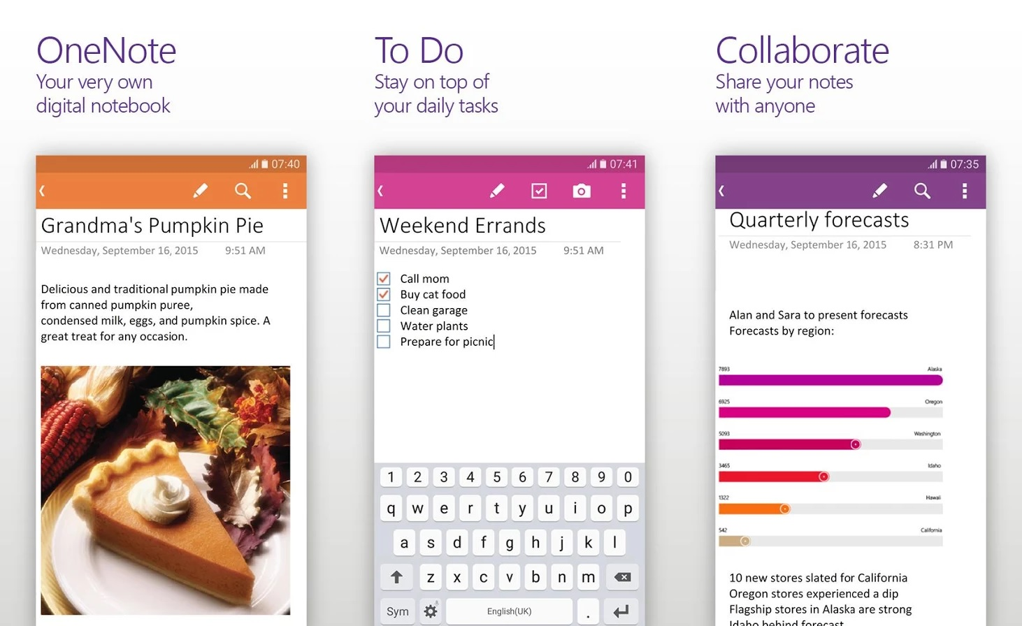 Microsoft OneNote for Android updated with new features