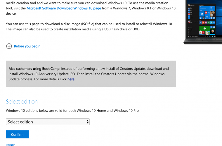 Mac users: You won't be able to install Windows 10 Creators Update with Boot Camp just yet 5