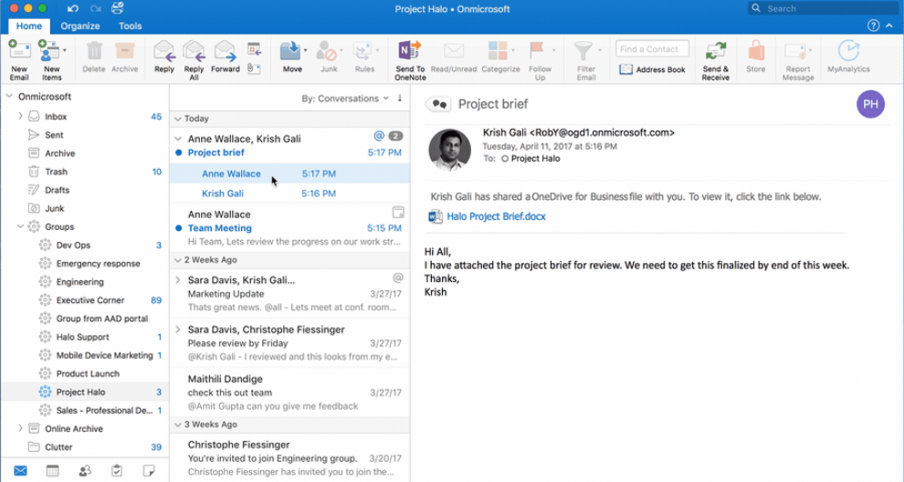 Groups in Outlook now available EVERYWHERE 1