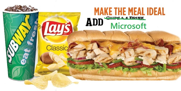 Here's how you and 30 of your closest friends can score a free Subway meal from Microsoft 12