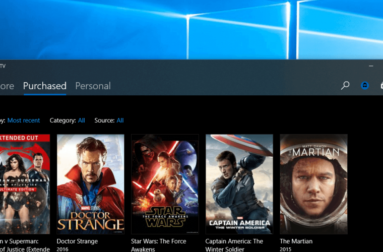 Microsoft brings a touch of Project NEON to Windows 10's Movies & TV app 11