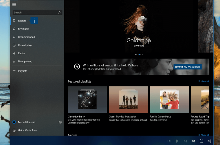 Groove Music's refreshed look and new features comes to all users in Windows 10 11
