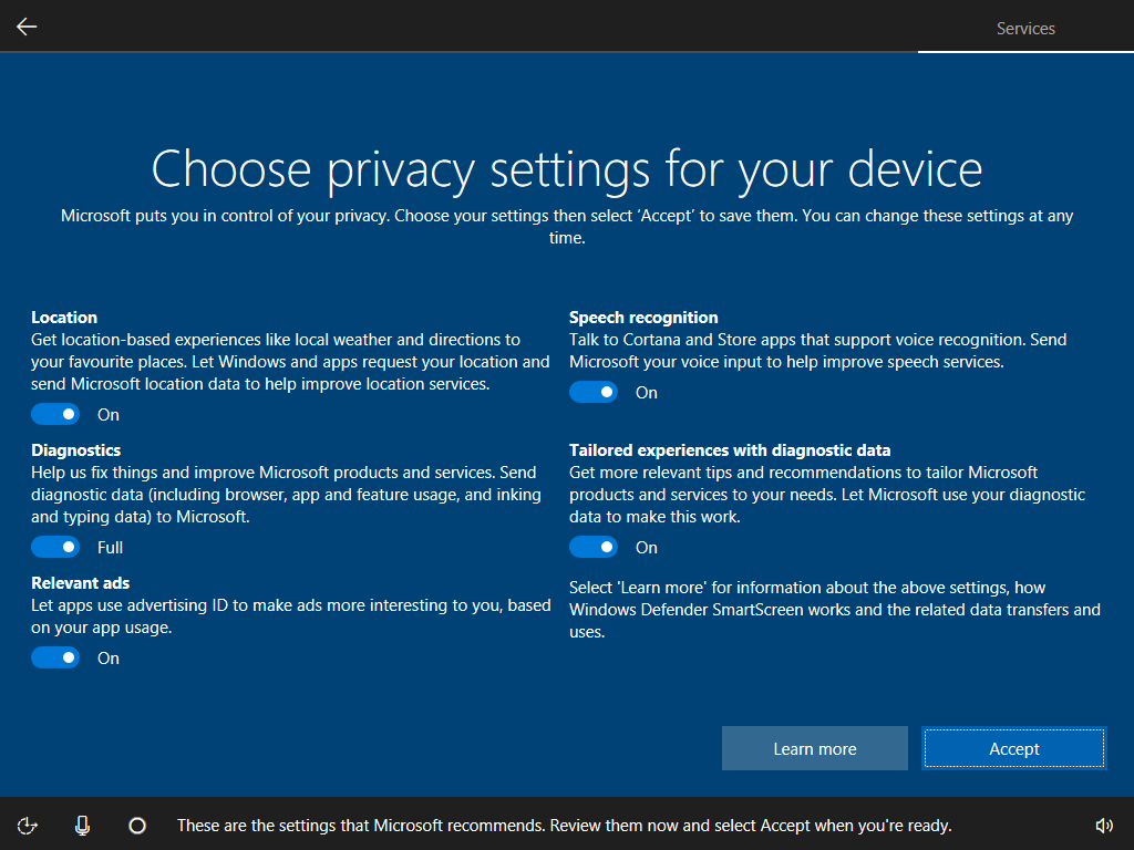Windows 10 store does not work -  Oobe Is The Fact That Users Can Configure Their Privacy Settings Before The Os Is Properly Setup If You Are Concerned About Your Privacy In Windows 10