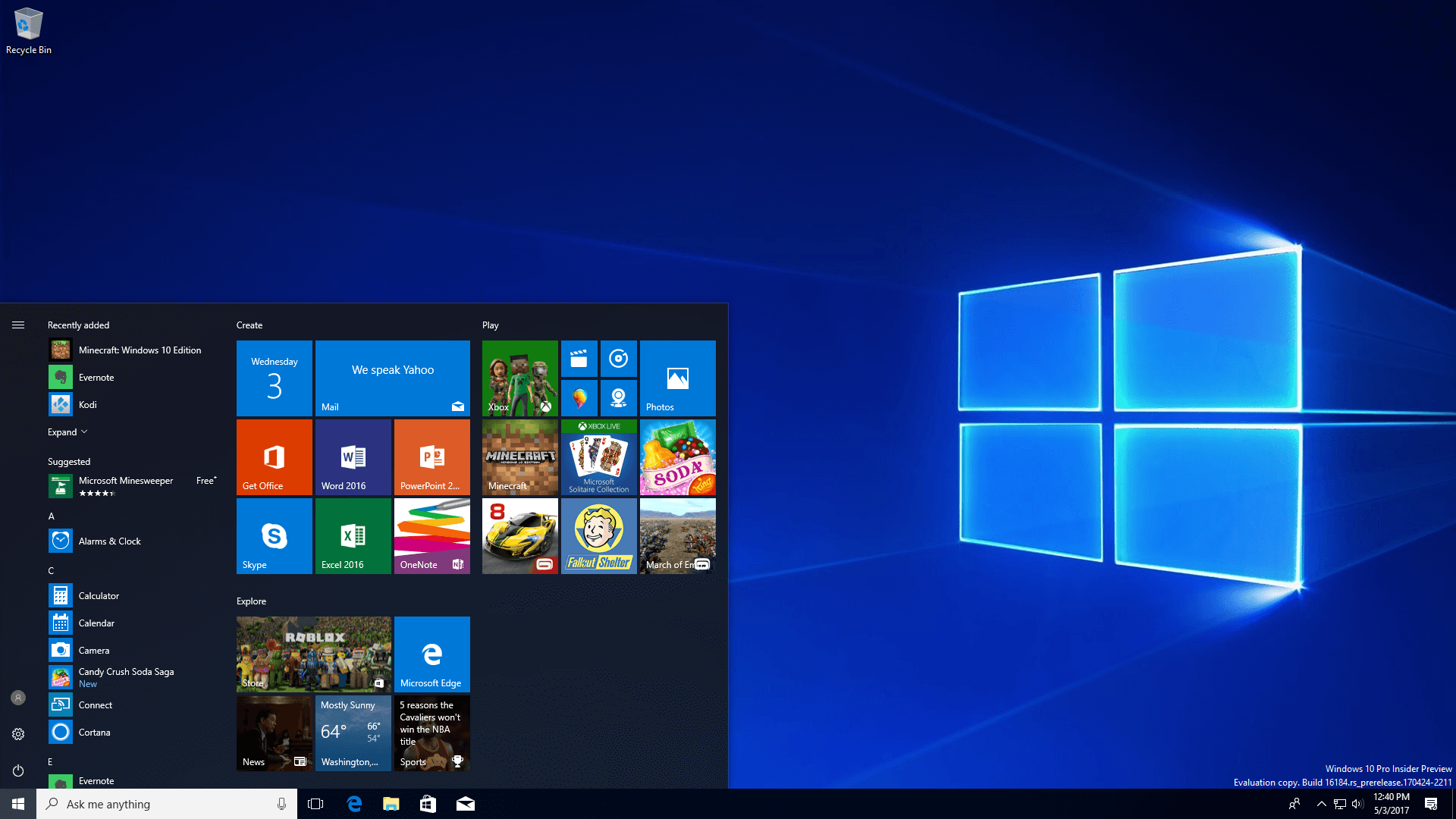 ISOs for Windows 10 Build 16278 released along with SDK Preview Build 16288 1