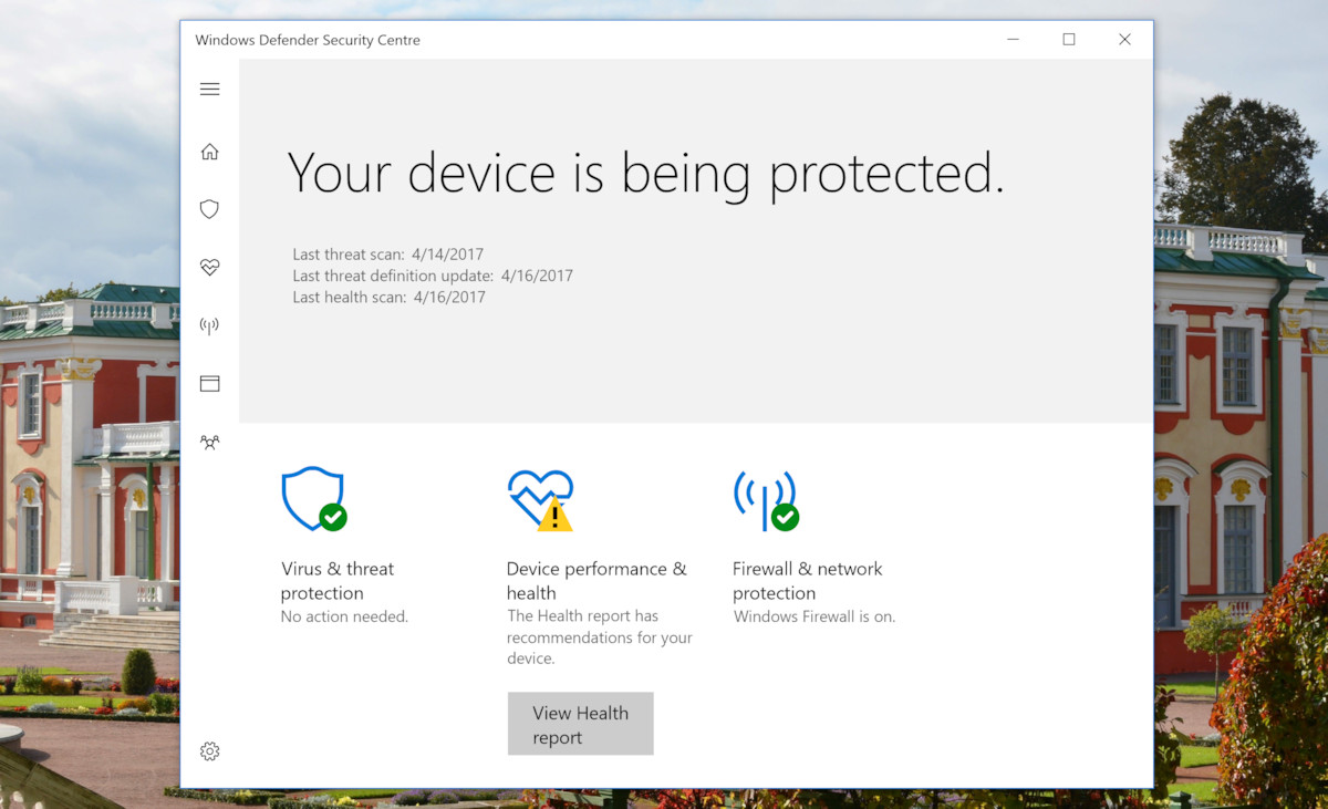microsoft virus protection for windows 8
