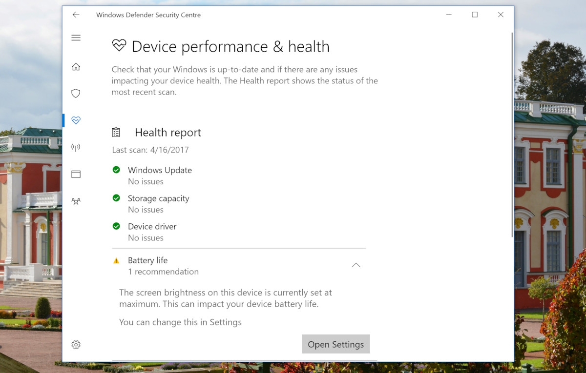 how to set low battery warnings on a windows 10