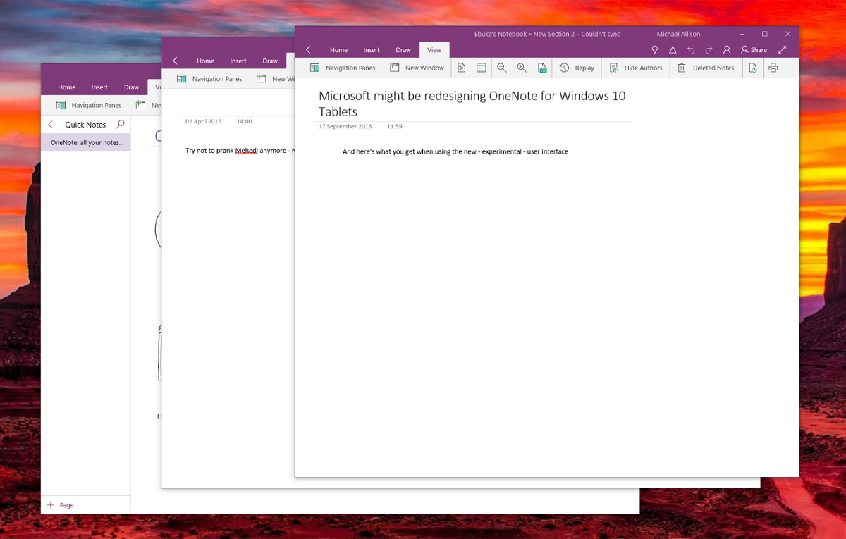 Onenote For Windows 10 Makes A Case For Other Modern Office