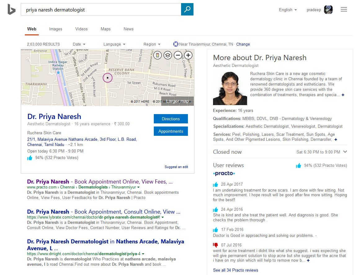 Microsoft Bing Makes It Easier To Find Best Doctors In
