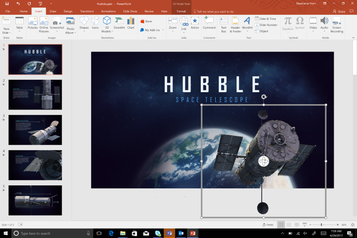 You can now add 3d models to powerpoint slides as easy as for 3d setup builder