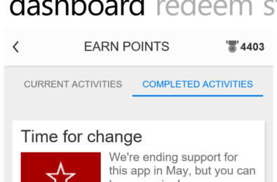 Microsoft drops support for the Bing Rewards app on Windows Phone 12