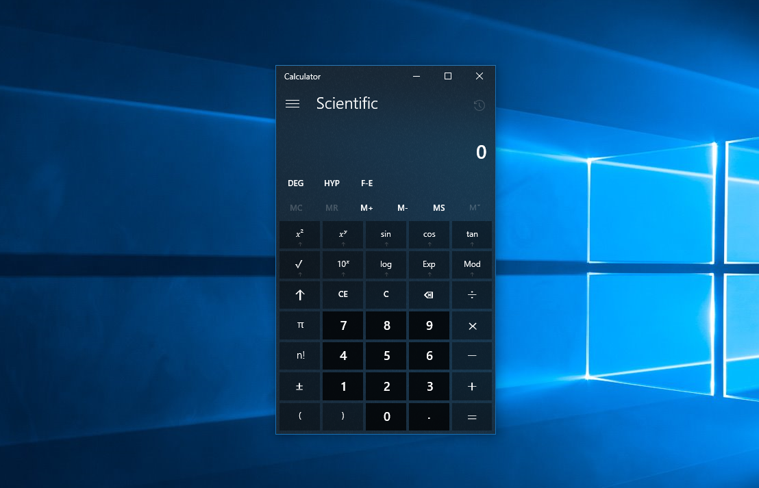 Update And More S Even The Calculator In Windows 10 Has Project Neon Now