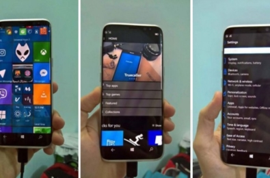 No, this is not a Samsung Galaxy S8 running Windows 10 Mobile 20
