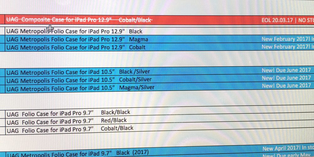 10.5-inch iPad case pops up in unnamed retailer stock system