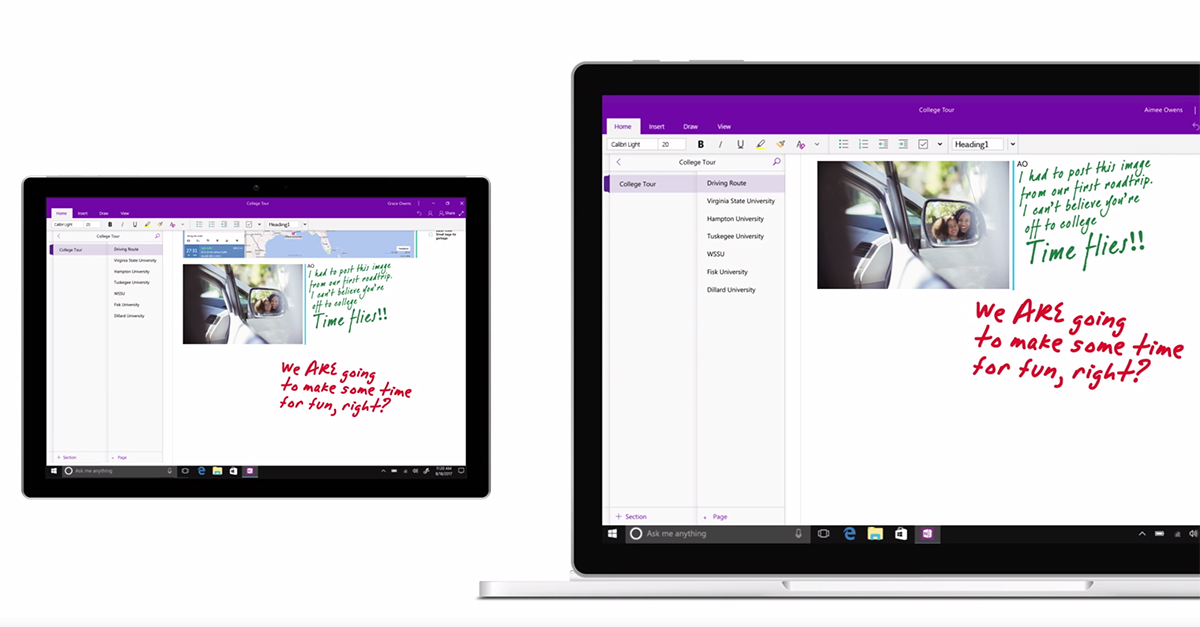 OneNote gets an enhanced look across all platforms to improve accessibility