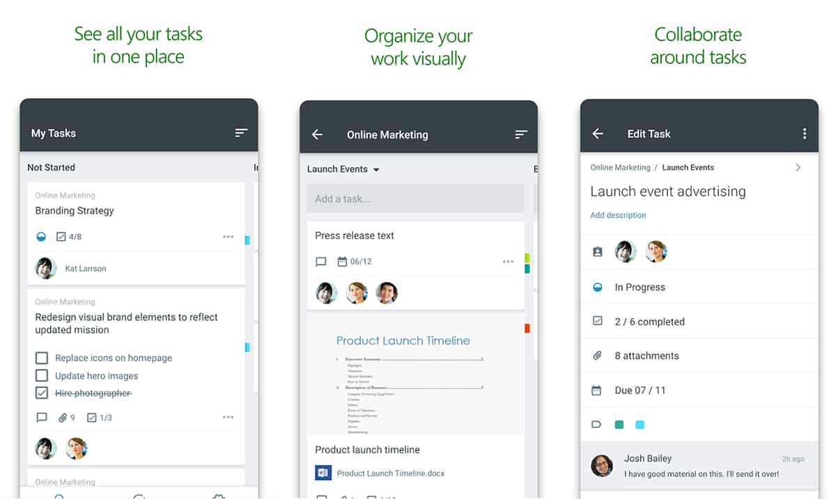 Microsoft Planner iOS and Android apps allow for task management on-the-go