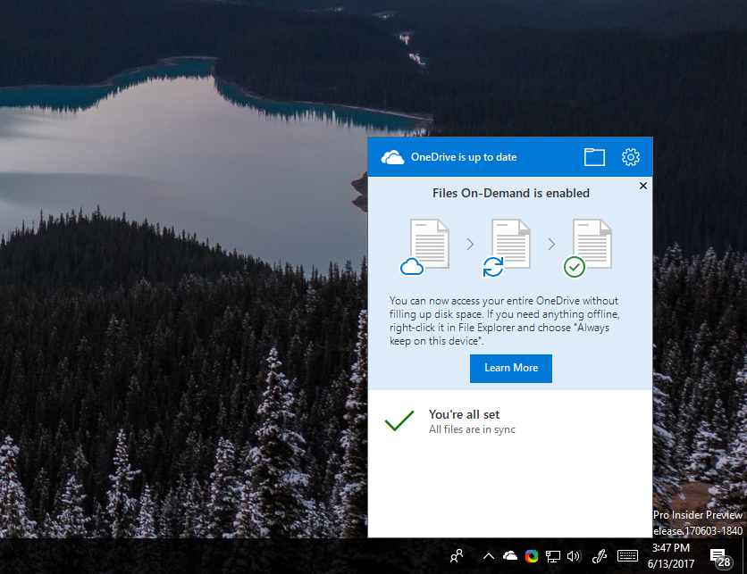 Windows 10 Insiders Can Now Test OneDrive Files On-Demand