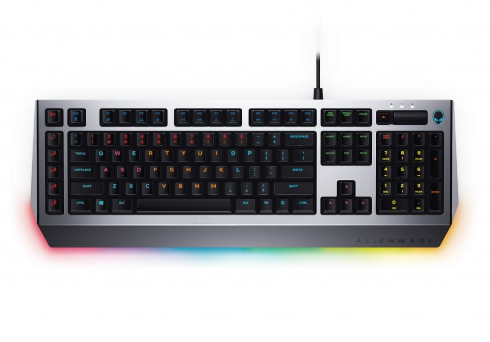 6a1b1784f81 The Alienware Pro Gaming Keyboard comes with optional palm rest, a  dedicated volume roller and 13 zone-based RGB AlienFX backlit lighting  options.