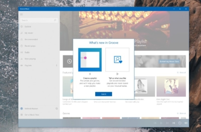 Groove's Music Fluent Redesign hits the production ring with new features in tow 3