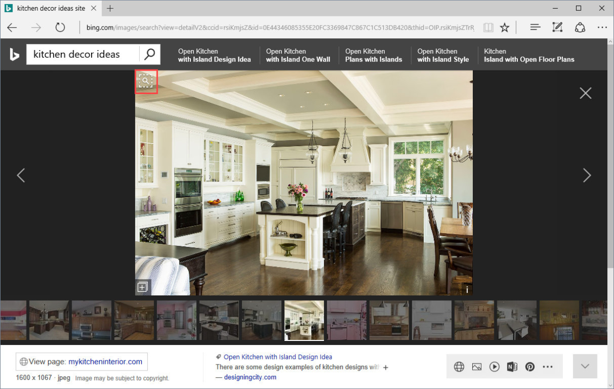 visual search Bing helps you turn information into action, making it faster and easier to go from searching to doing.